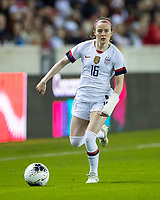 HOUSTON, TX - JANUARY 31: Rose Lavelle #16 of the USA during a game between Panama and USWNT at BBVA Stadium on January 31, 2020 in Houston, Texas.