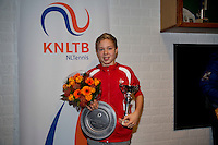 November 30, 2014, Almere, Tennis, Winter Youth Circuit, WJC,  Prizegiving, Lodewijk Westgate, overall winner boys 14 years<br /> Photo: Henk Koster