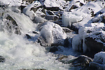 Snow and ice glaze the Great Falls of the Potomac.