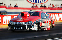 Sept. 2, 2011; Claremont, IN, USA: NHRA pro stock driver V. Gaines during qualifying for the US Nationals at Lucas Oil Raceway. Mandatory Credit: Mark J. Rebilas-