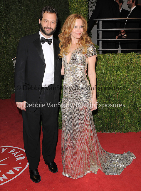 Jud Apatow & Leslie Mann at The 2009 Vanity Fair Oscar Party held at The Sunset Tower Hotel in West Hollywood, California on February 22,2009                                                                                      Copyright 2009 RockinExposures / NYDN