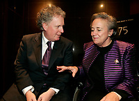Montreal (Qc) CANADA - file photo-Nov 23, 2006- <br /> Jean Charest , Quebec Premier (L), Lise Thibault, Lieutenant Governor of Quebec  (R) .<br /> <br /> Charest was elected for the first time  April 14 2003, he is seeking a 3rd term in the  Quebec provincial election which will be held Dec 14, 2008.<br /> <br /> Lise Thibault (born April 2, 1939) is a Canadian civil servant who was appointed Lieutenant Governor of Quebec on January 30, 1997. As a former Vice-Regal representative of Elizabeth II, as Queen in Right of Quebec, she is styled The Honourable for life.<br /> <br /> Prime Minister Jean ChrÈtien, the Governor General appointed her Lieutenant-Governor of Quebec, following the resignation of Jean-Louis Roux. She became Quebec's first female viceroy, and the first disabled lieutenant governor in Canada; Thibault was permanently disabled in a tobogganing accident as a teenager, and uses a wheelchair. In February 2005 Madame Thibault suffered a stroke.<br /> <br /> She is one of the longest serving lieutenant governors in Canadian history, having served for over ten years. In 2007, she was accused of spending beyond the limits of her expense account. Prime Minister Stephen Harper announced that he would recommend the appointment of a new Lieutenant Governor after the provincial election; it was said by the Prime Minister's Office that the decision to replace Thibault had nothing to do with her spending. The appointment of her successor, Pierre Duchesne, was announced on May 18, 2007.<br /> Questions on her spending continued after her departure, with federal and provincial auditors general pointing to $700,000 in unjustified expenses (CBC). The files were turned over to the SuretÈ du QuÈbec (SQ) and Royal Canadian Mounted Police (RCMP) for investigation.<br /> <br /> Photo (c)  Images Distribution