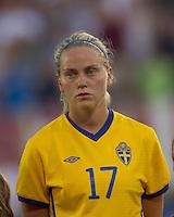 Sweden midfielder Lisa Dahlkvist (17). The US Women's national team beat Sweden, 3-0, at Rentschler Field on July 17, 2010.