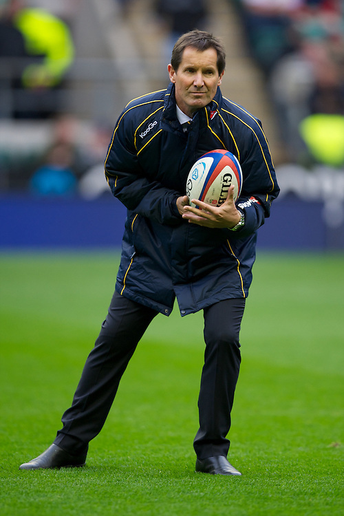 Robbie Deans, Australia Head Coach, before the Cook Cup between England and Australia, part of the QBE International series, at Twickenham on Saturday 17th November 2012 (Photo by Rob Munro)