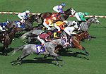 October 3, 2010.Lcky Trippi takes the lead in the 5th at Hollywood Park, Inglewood, CA._Cynthia Lum/Eclipse Sportswirt.com