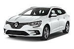 2020 Renault Megane-Estate Intens 5 Door wagon Angular Front automotive stock photos of front three quarter view