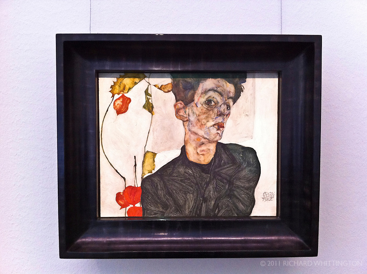 Egon Schiele (1890-1918) was a young star in the Secession movement. This self-portrait was in the Leopold Museum in the Museum Quartier.
