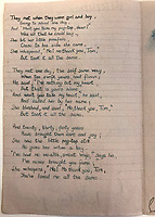 BNPS.co.uk (01202) 558833<br /> Pic: Tennants/BNPS<br /> <br /> Poem's also formed part of the sale<br /> <br /> A British prisoner of war's drawings and photographs of the building of the notorious 'Death Railway' in Burma have sold for £5,000.<br /> <br /> Captain Harry Witheford's accomplished sketches highlight the horrific ordeal endured by the captured soldiers at the hands of their Japanese captors in World War Two.<br /> <br /> The so-called Death Railway along the River Kwai claimed the lives of 12,000 Allied PoWs who were subjected to forced labour during its construction.