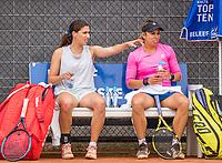 Amstelveen, Netherlands, 6 Juli, 2021, National Tennis Center, NTC, Amstelveen Womans Open, Womans doubles: Fourlis and Grabher  <br /> Photo: Henk Koster/tennisimages.com
