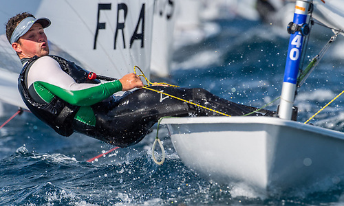 Ballyholme Yacht Club's Liam Glynn competing in the Vilamoura  ILCA Championships