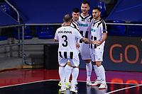 9th October 2020; Palau Blaugrana, Barcelona, Catalonia, Spain; UEFA Futsal Champions League Finals; Mrucia FS versus MFK Tyumen; Players of Tyumen celebrate after scoring their goal