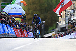 Ka Hoo Fung (HKG) climbs Parliment Street on the Harrogate circuit during the Men U23 Road Race of the UCI World Championships 2019 running 186.9km from Doncaster to Harrogate, England. 27th September 2019.<br /> Picture: Eoin Clarke | Cyclefile<br /> <br /> All photos usage must carry mandatory copyright credit (© Cyclefile | Eoin Clarke)