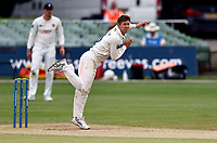 Joe Denly bowls for Kent during Kent CCC vs Northamptonshire CCC, LV Insurance County Championship Group 3 Cricket at The Spitfire Ground on 6th June 2021