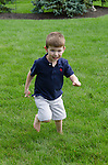 Zach outdoors at Barb and Richard's home, Columbus, Ohio, USA
