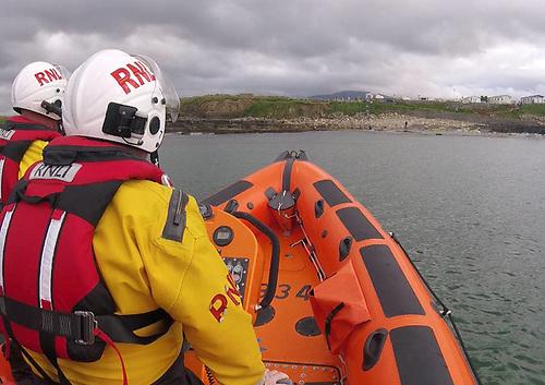Bundoran RNLI's inshore lifeboat in action