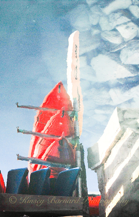 """RED KAYAKS & ROCKY BLUE SKIES""<br />
