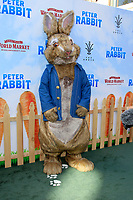 """LOS ANGELES - FEB 3:  Peter Rabbit, Character, Atmosphere at the """"Peter Rabbit"""" Premiere at the Pacific Theaters at The Grove on February 3, 2018 in Los Angeles, CA"""