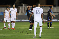 SAN JOSE, CA - OCTOBER 28: Chris Wondolowski #8 of the San Jose Earthquakes reacts during a game between Real Salt Lake and San Jose Earthquakes at Earthquakes Stadium on October 28, 2020 in San Jose, California.