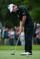 23.05.2015. Wentworth, England. BMW PGA Golf Championship. Round 3.  Emiliano Grillo [ARG] putts on the 4th green during the third round of the 2015 BMW PGA Championship from The West Course Wentworth Golf Club
