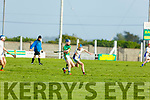 Action from Tralee Parnells v Lixnaw in the U16 Hurling plate final.
