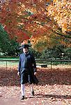 Benjamin Franklin walks in autumn leaves Colonial Williamsburg Virginia, Fine Art Photography by Ron Bennett, Fine Art, Fine Art photography, Art Photography, Copyright RonBennettPhotography.com ©
