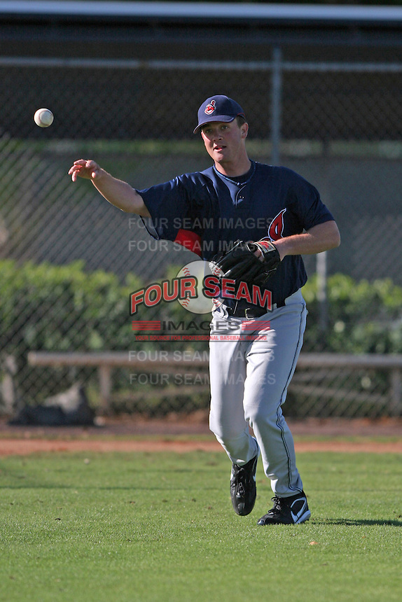 Cleveland Indians minor leaguer Steven Wright during Spring Training at the Chain of Lakes Complex on March 17, 2007 in Winter Haven, Florida.  (Mike Janes/Four Seam Images)