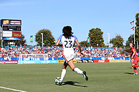 Cary, NC - Sunday October 22, 2017: Christen Press during an International friendly match between the Women's National teams of the United States (USA) and South Korea (KOR) at Sahlen's Stadium at WakeMed Soccer Park. The U.S. won the game 6-0.
