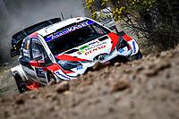 13th March 2020, Guanajuato, Mexico; WRC Rally of Mexico;  Kalle Rovanpera FIN - Jonne Halttunen FIN in their Toyota Yaris WRC, Motorsport Rally