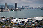 An overview of the Central Harbourfront Circuit during the FIA Formula E Hong Kong E-Prix at the on 01 December 2017 in Hong Kong, Hong Kong. Photo by Victor Fraile / Power Sport Images