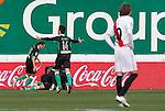 Madrid (03/03/2012).-Campo de Futbol de Vallecas..Liga BBVA..Rayo Vallecano-Real Racing Club..Gol del Racing...©Alex Cid-Fuentes.......