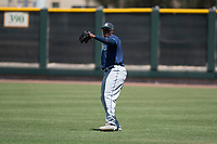 Seattle Mariners right fielder Jose Sandoval (89) during an Extended Spring Training game against the San Francisco Giants Orange at the San Francisco Giants Training Complex on May 28, 2018 in Scottsdale, Arizona. (Zachary Lucy/Four Seam Images)