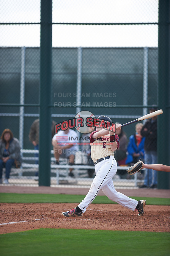 Henry Davis (6) of Fox Lane High School in Bedford, New York during the Under Armour All-American Pre-Season Tournament presented by Baseball Factory on January 14, 2017 at Sloan Park in Mesa, Arizona.  (Zac Lucy/MJP/Four Seam Images)