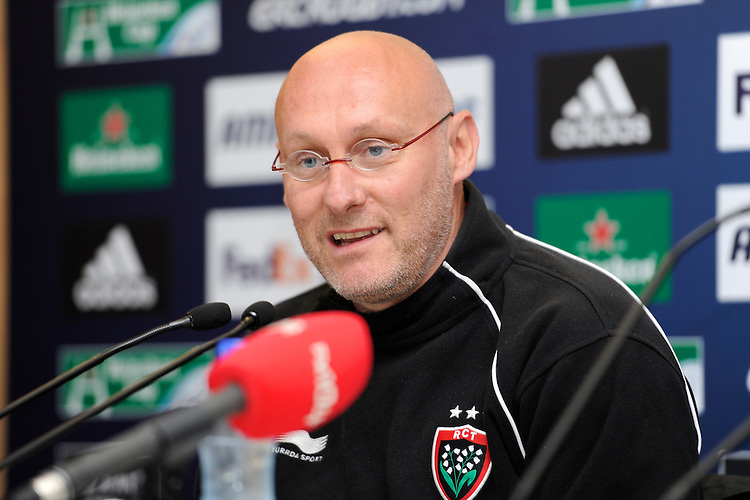 Bernard Laporte, RC Toulon Head Coach, during the Captain's Run press conference before the Heineken Cup Final at the Aviva Stadium, Dublin on Friday 17th May 2013 (Photo by Rob Munro).