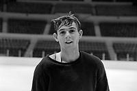 Guy Lafleur a l'entrainement<br /> , Entre le 14 et le 20 octobre 1968<br /> <br /> Photographe : Photo Moderne<br /> - Agence Quebec Presse