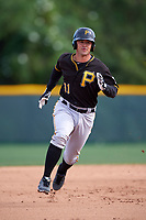 Pittsburgh Pirates Daniel Arribas (31) during a minor league Spring Training intrasquad game on April 3, 2016 at Pirate City in Bradenton, Florida.  (Mike Janes/Four Seam Images)