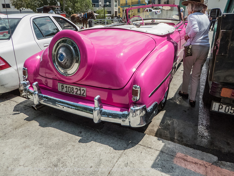 Pimped out 1952 Chevy convertible in Old Havana