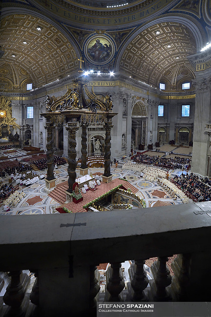 Pope Francis celebrates a priesthood ordination and mass in St Peter's Basilica at the Vatican, on May 12, 2019.