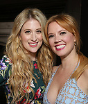 Caissie Levy and Patti Murin attends the press day for 'Frozen' The Broadway Musical on February 13, 2018 at the Highline Hotel in New York City.
