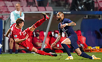 23rd August 2020, Estádio da Luz, Lison, Portugal; UEFA Champions League final, Paris St Germain versus Bayern Munich; Joshua Kimmich (Munich) and Layvin Kurzawa (PSG)