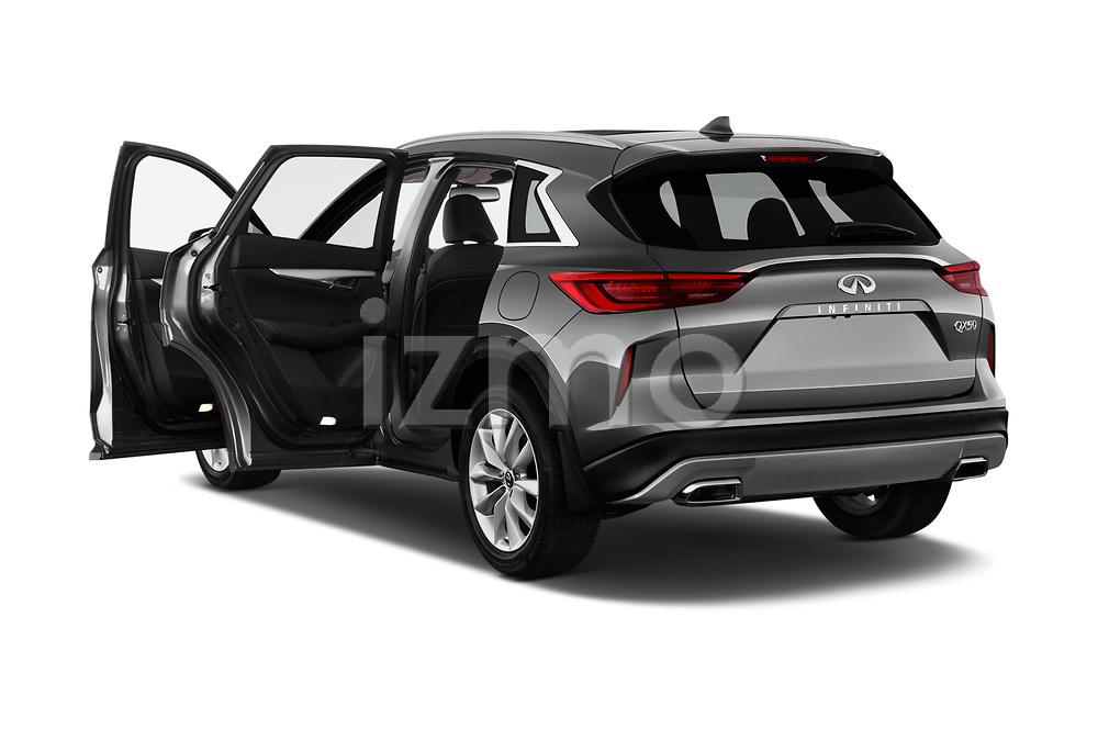 Car images close up view of a 2019 Infiniti QX50 LUXE AWD 5 Door SUV doors