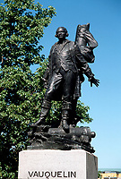 Montreal (Qc) CANADA - May 1998-<br /> <br /> statue of Jean Vauquelin (by Eugène Bénet, 1930), the officer who tried in vain to defend New France against the British in 1759/60, beside Montreal City Hall