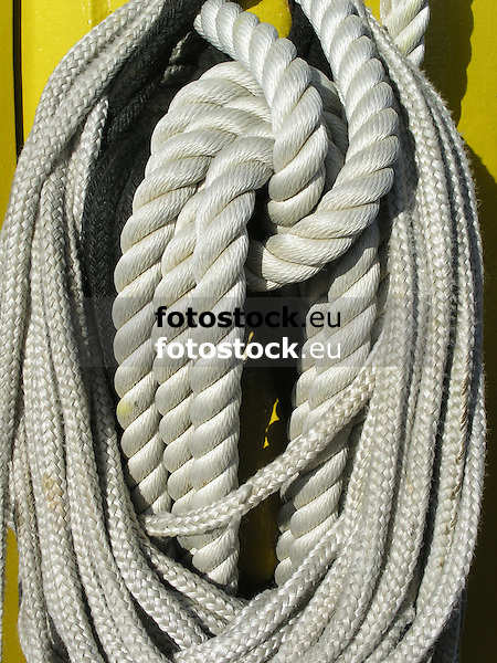 ropes at a deck of a sailing ship<br />