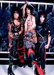 Motley Crue 1983 Nikki Sixx, Tommy Lee, Vince Neil and Mick Mars<br />