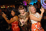 """The Chronicle's Joy Sewing, Shelby Hodge and Melissa Aguilar   give their best """"Charlie's Angel"""" pose at the the Simon Fashion Now extravaganza  at The Galleria Thursday Sept. 17,2009.(Dave Rossman/For the Chronicle)"""