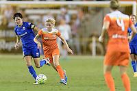 Houston, TX - Sunday Sept. 25, 2016: Keelin Winters, Denise O'Sullivan during a regular season National Women's Soccer League (NWSL) match between the Houston Dash and the Seattle Reign FC at BBVA Compass Stadium.