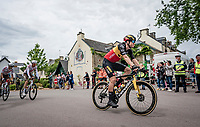 Belgian National Champion Wout van Aert (BEL/Jumbo-Visma) rolling through town<br /> <br /> Stage 3 from Lorient to Pontivy (183km)<br /> 108th Tour de France 2021 (2.UWT)<br /> <br /> ©kramon