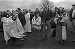 Avebury Wiltshire, Druid wedding blessing event. 1996.