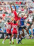 Tunisia vs American Samoa during the Cathay Pacific / HSBC Hong Kong Sevens at the Hong Kong Stadium on 29 March 2014 in Hong Kong, China. Photo by Juan Flor / Power Sport Images