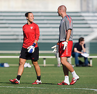Jill Loyden, Paul Rogers. The USWNT practice at WakeMed Soccer Park in preparation for their game with Japan.