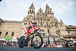 Olympic Champion Red Jersey Primoz Roglic (SLO) Jumbo-Visma wins Stage 21 and La Vuelta d'Espana 2021, an individual time trial running 33.8km from Padron to Santiago de Compostela, Spain. 5th September 2021.     <br /> Picture: Charly Lopez/Unipublic | Cyclefile<br /> <br /> All photos usage must carry mandatory copyright credit (© Cyclefile | Unipublic/Charly Lopez)